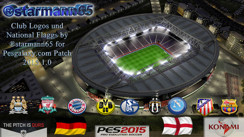 PES 2015 Club Logos & National Flaggs for Pesgalaxy.com Patch 2015 1.0 by ®starmann65