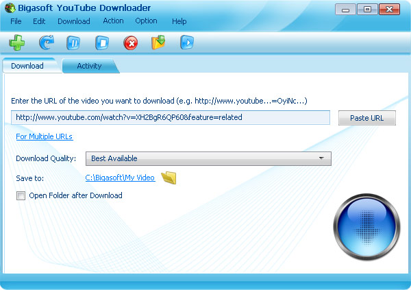 Bigasoft YouTube Downloader Pro 1.1.12.4605