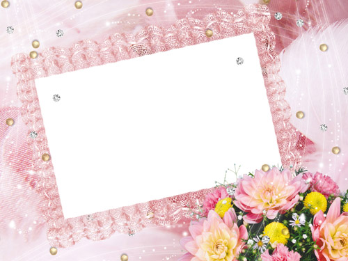 Flower frame for photo